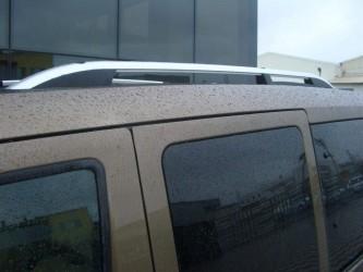 Рейлинги на крышу модель CROWN Ford Transit Connect / Tourneo 2004-2015 КОРОТКАЯ БАЗА, цвет серый мат