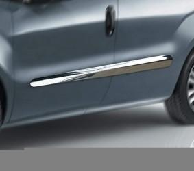 Молдинги на двери Fiat Doblo 2010-2013 (нержавеющая сталь)