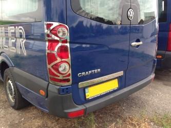 Хром накладки на стопы Volkswagen Crafter 2006-2013 (нержавеющая сталь)