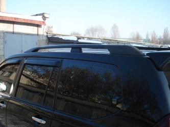 Рейлинги на крышу Toyota Land Cruiser Prado 120 2003-2009 черные