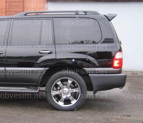 Спойлер козырек Toyota Land Cruiser 100 / Lexus LX 470 1998-2007 ABS пластик цвет черный