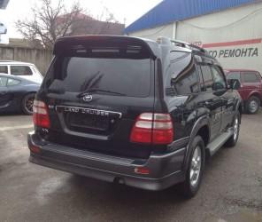 Спойлер козырек Toyota Land Cruiser 100 / Lexus LX 470 1998-2007 ABS пластик цвет черный, модель Maxi