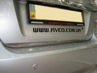 Хром накладка нижней кромки багажника Chevrolet Aveo T250 2006-2012 (нержавеющая сталь)