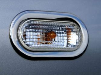 Накладки на повторители поворота Volkswagen Caddy/ T-5 Transporter/ Caravelle/ Multivan 2004- (нержавеющая сталь)