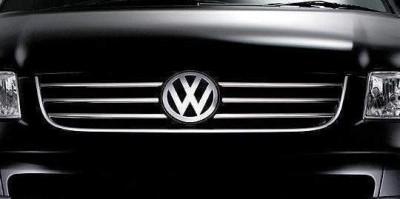 Хром накладки на решетку радиатора Volkswagen T5 Caravelle / Multivan 2003-2009 (нержавеющая сталь) 6 полосок