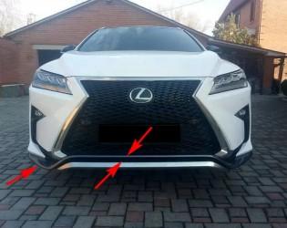 Юбка губа переднего бампера F-Sport Lexus RX 2015-2019 5211248010
